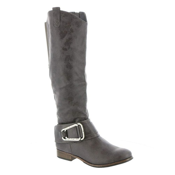 e2d77c1668e NWT Madeline Shuffle Boots Mud Grey Knee High
